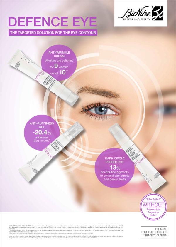 BioNike eye creams poster