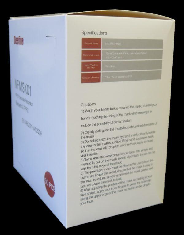 FFP2 N95 corona virus box