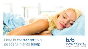 secret to a peaceful night's sleep